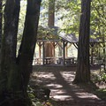 Sheltered picnic area at Nolte State Park.- Nolte State Park, Deep Lake