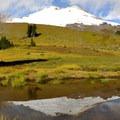 Mount Baker (10,781') looms over the Railroad Grade Trail.- Railroad Grade Trail