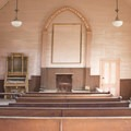 Interior of a church at Bodie ghost town.- Bodie State Historic Park