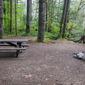 Riverside campsite.- Beckler River Campground