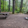 Riverside campsite.- Beckler River Campground