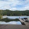 The main boat ramp at Tahkenitch Lake.- Tahkenitch Lake