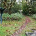 Trail to bathroom.- Big Eddy Park