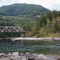 Train bridge.- Big Eddy Park