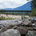 Highway 2 bridge.- Big Eddy Park