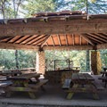 Azalea Knoll picnic shelter.- Mount Madonna Valley View Campgrounds #2 + #3