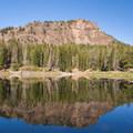 Strawberry Lake reflections.- Little Strawberry Lake via Strawberry Lake + Strawberry Falls