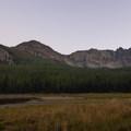 Dusk at Strawberry Lake.- Little Strawberry Lake via Strawberry Lake + Strawberry Falls