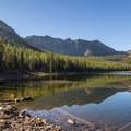 Strawberry Lake.- Strawberry Mountain via Strawberry Lake