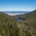 Looking down on Strawberry Lake from the trail to Strawberry Mountain's summit.- Strawberry Mountain Wilderness Loop