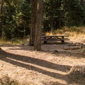 A campsite at Slide Creek Campground.- Slide Creek Campground