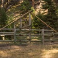 Another campsite's horse corral.- Slide Creek Horse Camp
