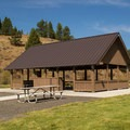Day use picnic shelter.- Bates State Park and Campground