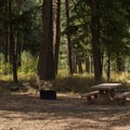 A typical campsite.- Middle Fork Campground