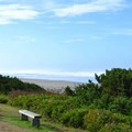 Viewing area at Driftwood Beach wayside. - Driftwood Beach State Recreation Site