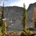 Blue Lake in the fall.- Blue Lake Hike