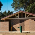 Clean restrooms in Anderson Lake County Park.- Anderson Lake County Park
