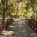 Crossing the bridge.- Anderson Lake County Park
