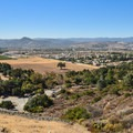 A view of Morgan Hill from the top.- Serpentine Trail