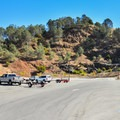 Anderson Reservoir parking lot.- Lakeview + Grey Pines Loop, Rosendin Park
