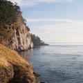 The high bluffs near Turn Point Lighthouse.- Stuart Island Sea Kayaking
