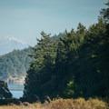 Mount Baker (10,781') seen from Stuart Island.- Stuart Island Sea Kayaking