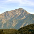 Jack Mountain's west peak (8,905') from the north end of the parking lot.- Diablo Lake Overlook