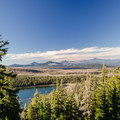 View of Three Creeks lake and surrounding peaks from the trail.- Tam McArthur Rim Hike