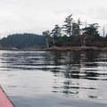 Approaching Posey Island.- Posey Island Sea Kayaking
