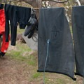 Drying gear at one of the campsites.- Posey Island Sea Kayaking