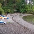 Sandy beaches for landing a kayak.- Sucia Island Sea Kayking Circumnavigation