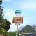 Sign for Strawberry Hill along Highway 101.- Strawberry Hill