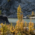 Perfection Lake in the Enchantments.- Enchantment Lakes Hike via Snow Lakes