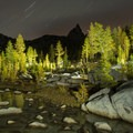 Enchanments by night with Prusik Peak (8,000') in the distance.- Enchantment Lakes Hike via Snow Lakes