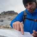 CleverHiker founder Dave Collins reviewing camping options.- Enchantment Lakes Hike via Snow Lakes