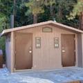 Vault toilet.- Whitney Portal Recreation Area