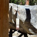 A pack scale at the Mount Whitney Trailhead.- Whitney Portal Recreation Area