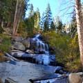 Lone Pine Creek Waterfall.- Whitney Portal Recreation Area