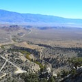 View of Owens River Valley from Whitney Portal Road.- Whitney Portal Recreation Area
