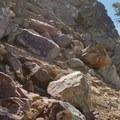The route up Castle Rock.- Castle Rock Loop