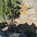 Steep and exposed cliff sides call for exercising caution on top of Castle Rock.- Castle Rock Loop