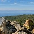 Lake Tahoe vista from the summit of Castle Rock.- Castle Rock Loop