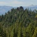 Castle Rock from a distance.- Castle Rock Loop