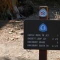 The trail junction with the Tahoe Rim Trail.- Castle Rock Loop