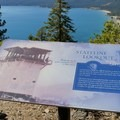 Informational signs discuss the history of the site and the decomissioning of the original lookout.- Stateline Fire Lookout