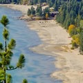 Close-up of Kings Beach.- Stateline Fire Lookout