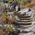 Steps have been constructed into portions of the trail..- Five Lakes Trail