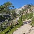 More climbing along the Five Lakes Trail.- Five Lakes Trail