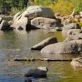 Lake shore along the Five Lakes Trail.- Five Lakes Trail