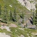 Making better time on the descent.- Five Lakes Trail
